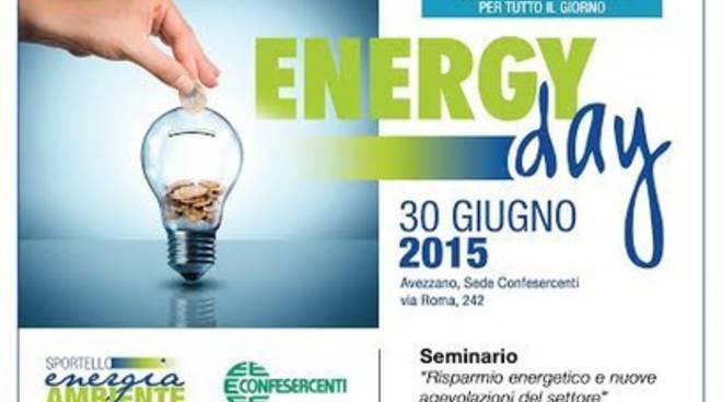 """Avezzano, la Confesercenti organizza la """"Energy Day"""""""