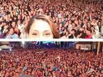Lady Tata a Capistrello, mega selfie vincente