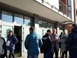 Protesta all'Emiciclo, i dipendenti di Abruzzo Engineering in rivolta