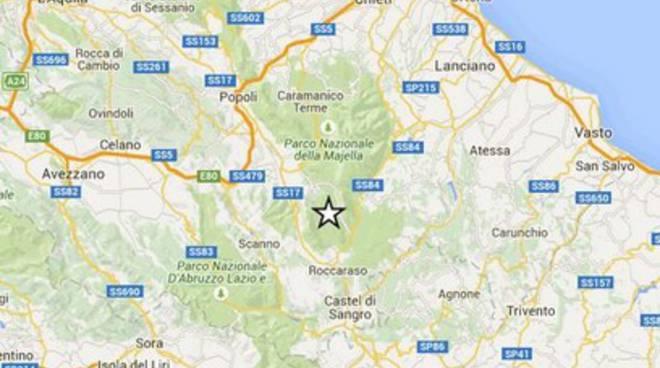 Terremoti, scossa 2.8 nell'Aquilano