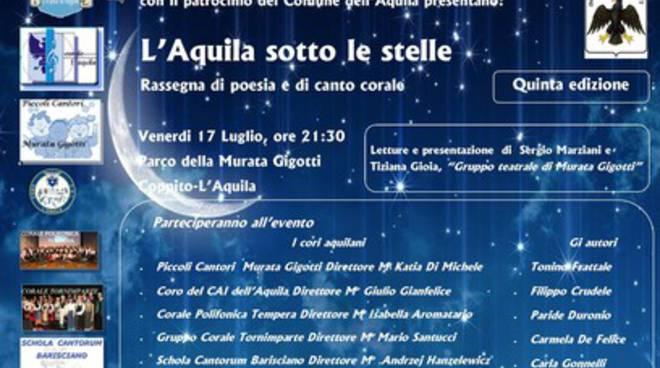 Coppito, V edizione di 'L'Aquila sotto le stelle'