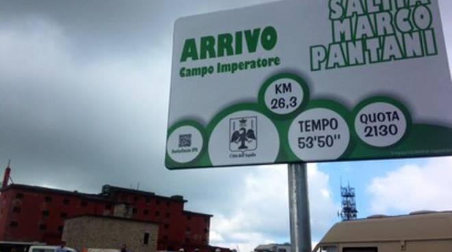 Fonte Cerreto, inaugurata salita Marco Pantani