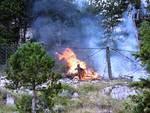 Incendio nella Pineta di Tagliacozzo: al lavoro 4 forze 'sorelle'