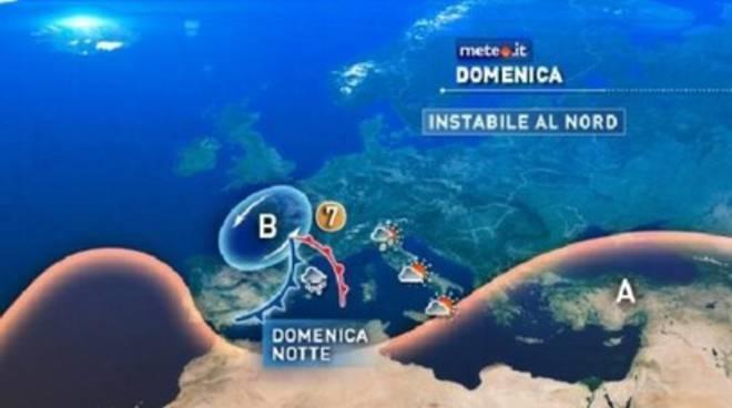Italia divisa a metà: temporali al Nord, caldo africano al Sud