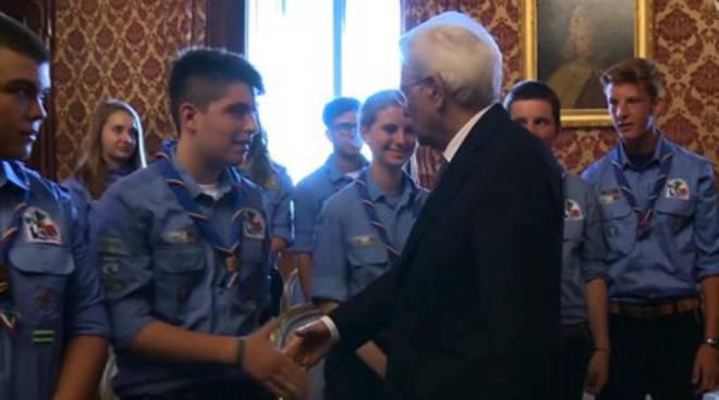 Scout aquilano incontra il Presidente Mattarella