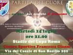 Sport e solidarietà, partita del cuore a Roma