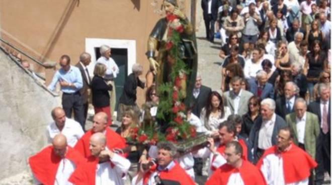 Cabbia di Montereale, statua San Rocco torna a 'casa'