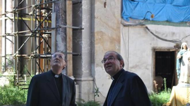 Il Cardinale Stella riabbraccia L'Aquila