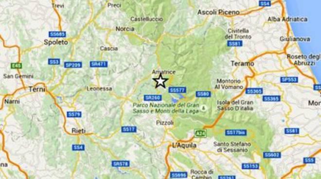 Lieve scossa a L'Aquila