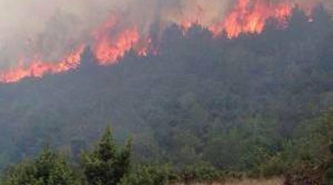 Nuovo incendio a Capestrano, continua l'estate dei roghi