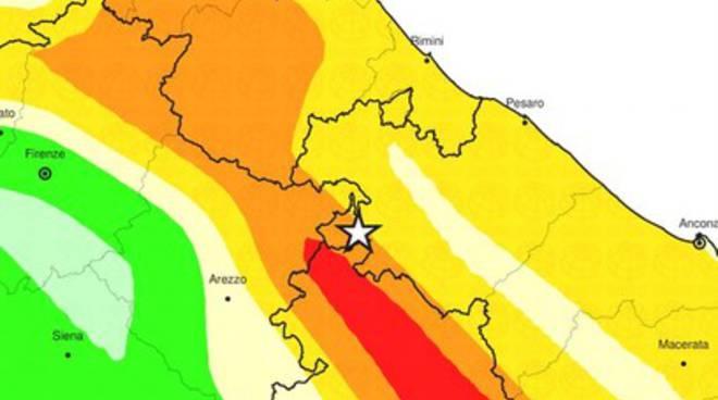 Terremoti, scossa 3.7 nelle Marche