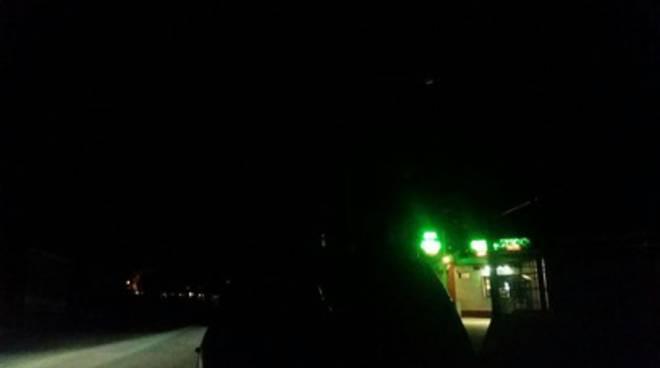 Viale Gran Sasso al buio