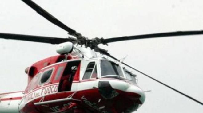 Vvf prestano elicottero alla Regione