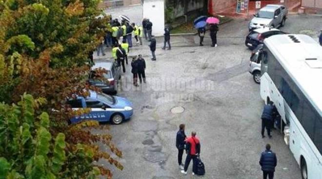 L'Aquila Calcio - contestazione tifosi al Fattori
