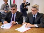 Luciano D'Alfonso e presidente Inail Massimo De Felice