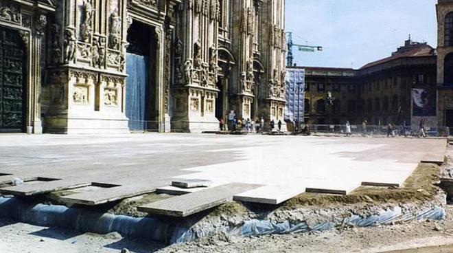 Milano Piazza Duomo pavimentazione