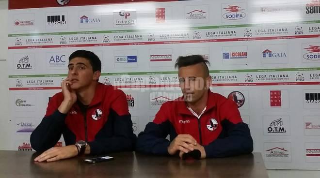 L'Aquila Calcio - Sandomenico e Milicevic