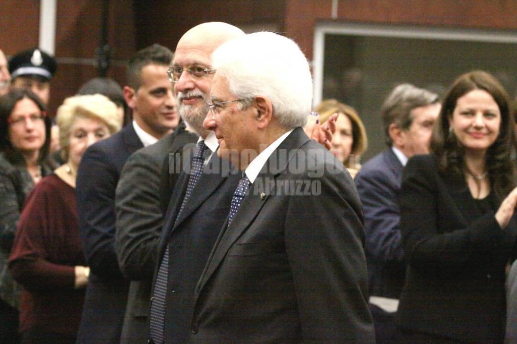 Mattarella a L'Aquila: la visita in Tribunale