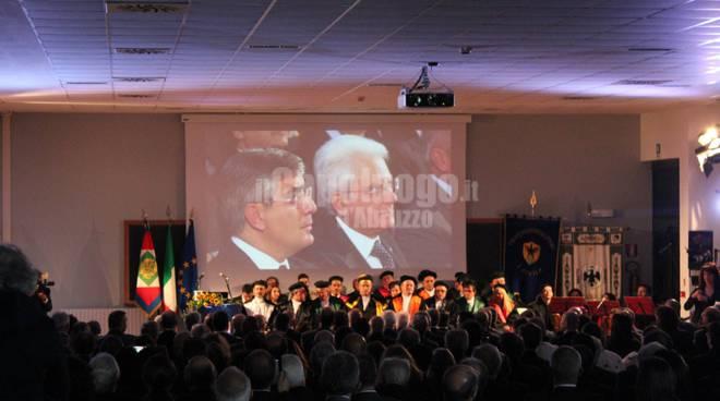 Univaq: Mattarella all'inaugurazione dell'anno accademico