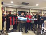 l'aquila calcio in visita all'ex onpi