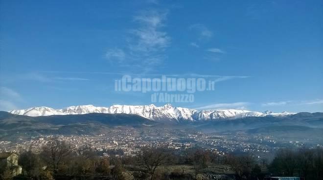 Neve, L'Aquila e dintorni
