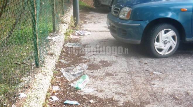 parcheggi sporchi ad avezzano