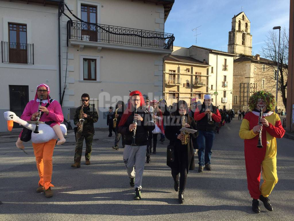 Carnevale a Paganica con il Concerto bandistico città di Paganica