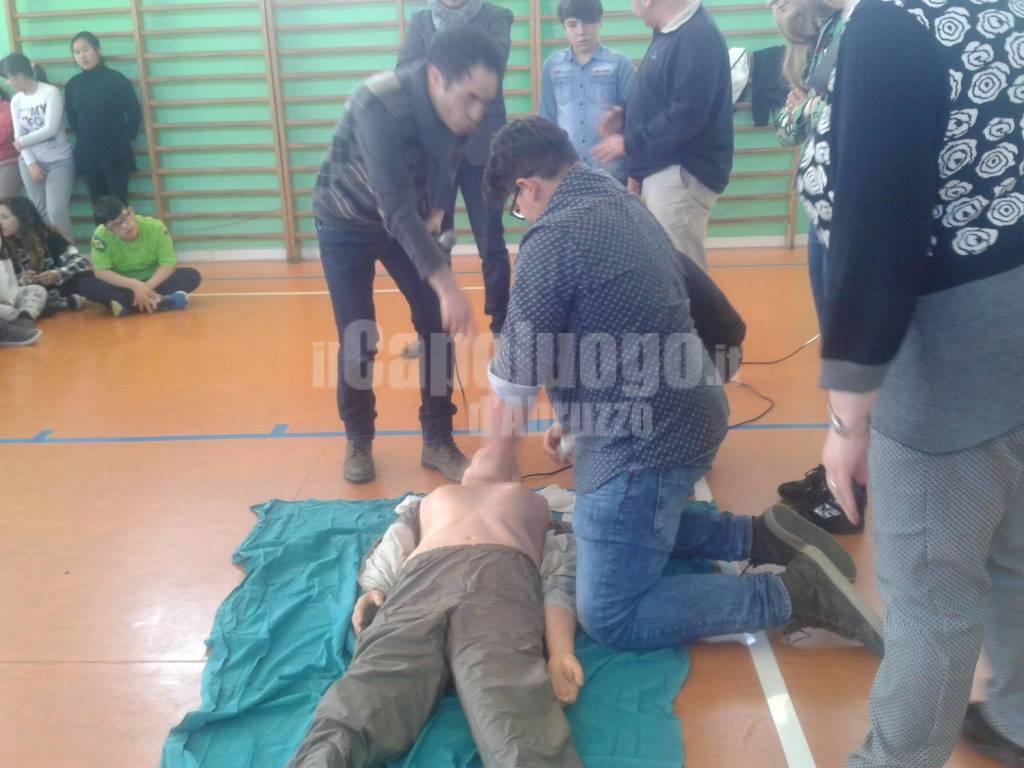 Consegna defibrillatore a Pescina