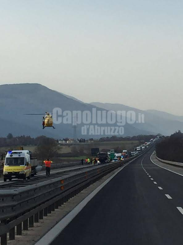 incidente a 25 eliambulanza