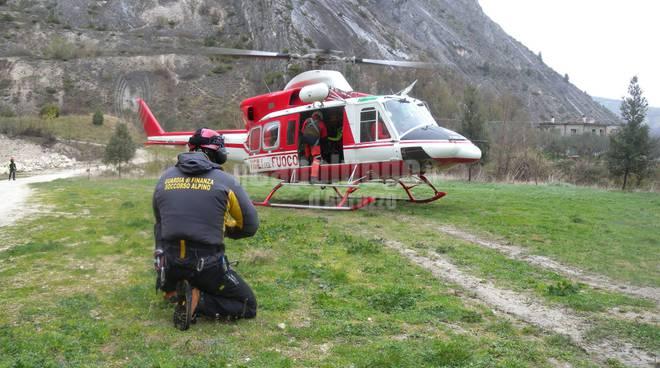 esercitazione soccorso alpino finanza vigili del fuoco