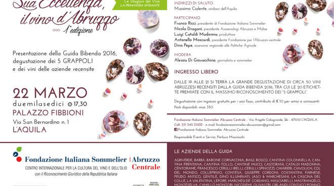 Vino abruzzese, dibattito e degustazione a Palazzo Fibbioni
