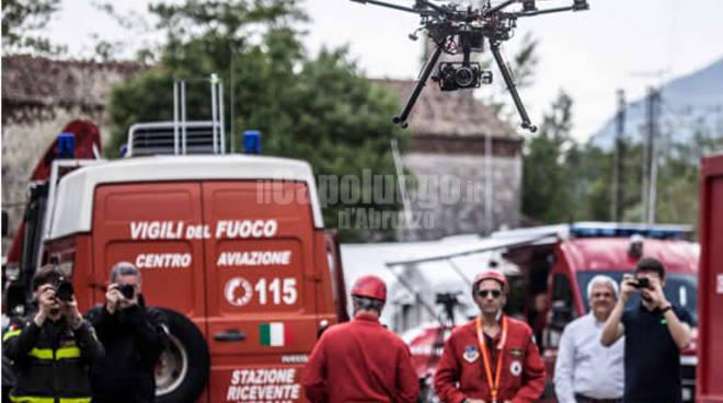 droni vigili del fuoco