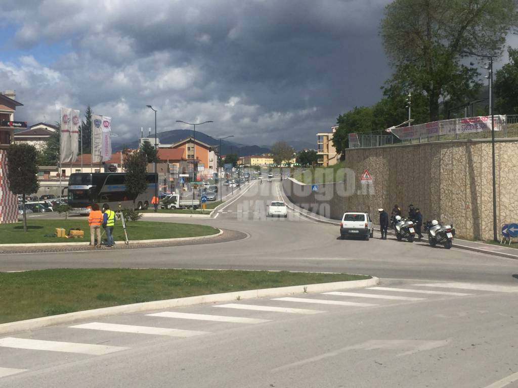 giro D'italia all'Aquila