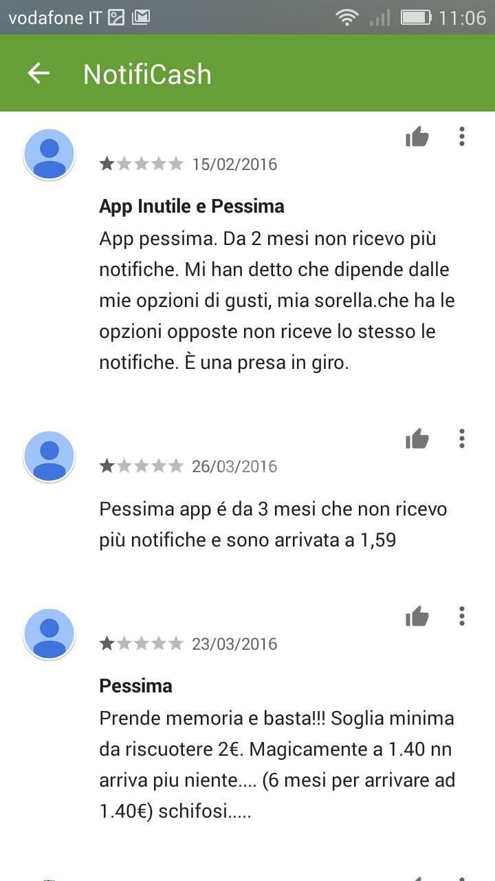 notificash: i commenti degli utenti
