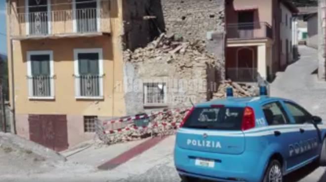 Questore dell'Aquila a montereale - terremoto amatrice