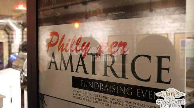 Amatriciana solidale al Gran Caffè di Philadelphia