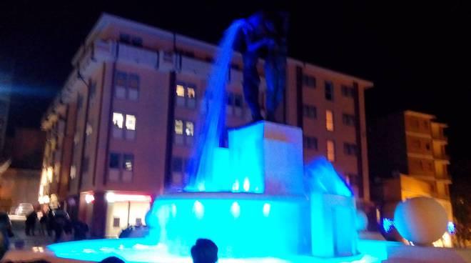 fontana luminosa inaugurazione 22 dicembre 2016