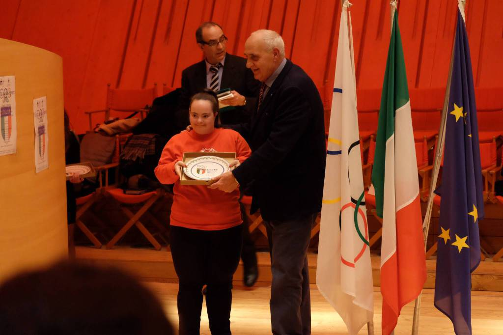 special olympics l'aquila premiati da coni