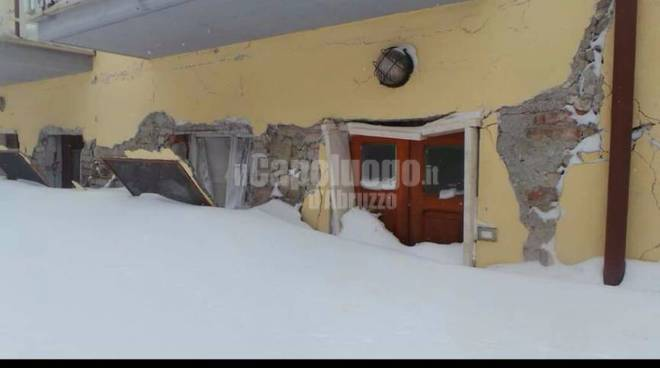 campotosto, foto post terremoto 18 gennaio