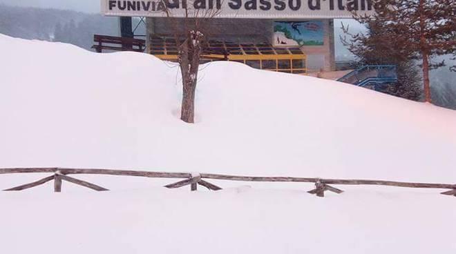 L'Abruzzo imbiancato (tranne l'Aquila): neve in tutto l'abruzzo gennaio 2017