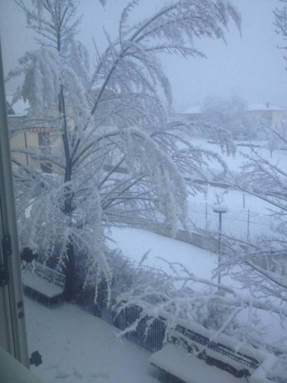 progetto case paganica neve 18 gennaio