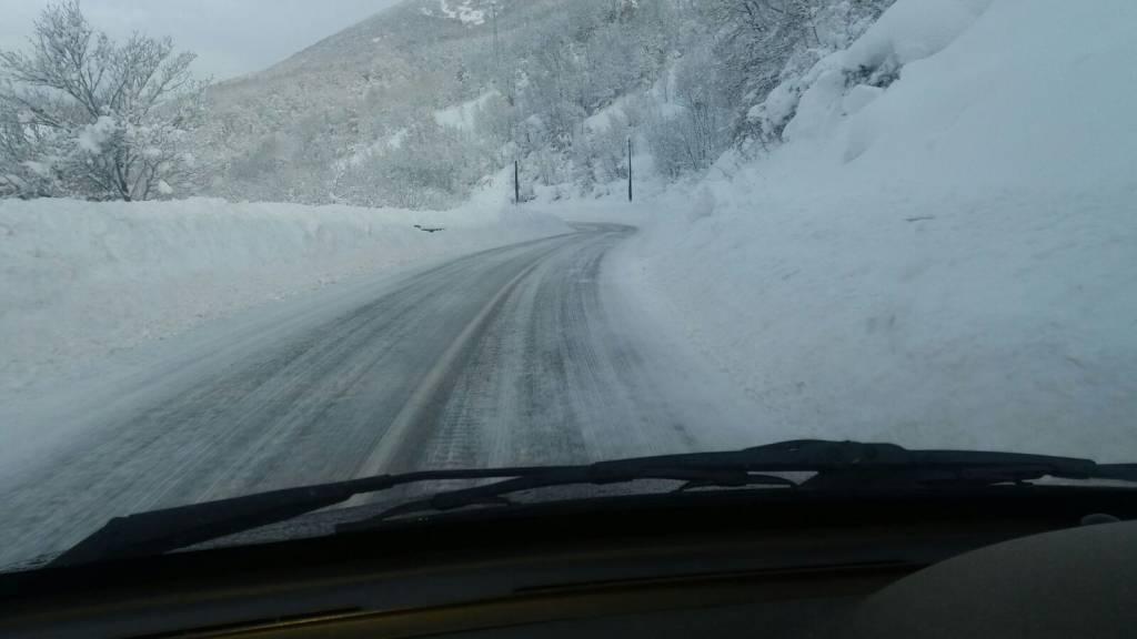 strada per montereale 19 gennaio
