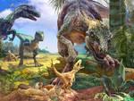 teropode dinosauro sul monte cagno