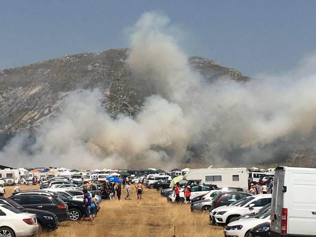 incendio campo imperatore fonte vetica
