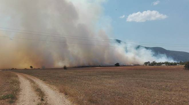 incendio collelongo