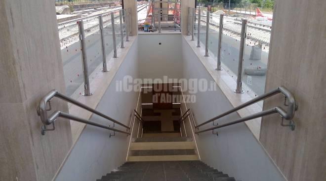 stazione ferroviaria: lavori e sottopasso