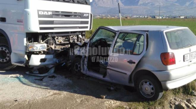 incidente strada del Fucino