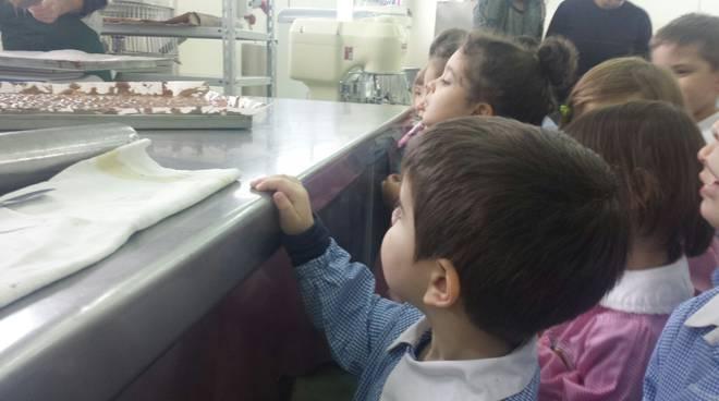 Gli alunni dell'infanzia del Torrione a scuola dai Fratelli Nurzia