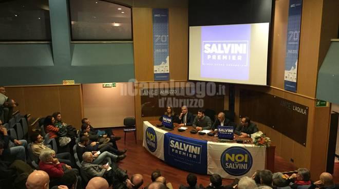 Noi con Salvini: conferenza programmatica dicemrbe 2017. D'eramo, imprudente, bellachioma