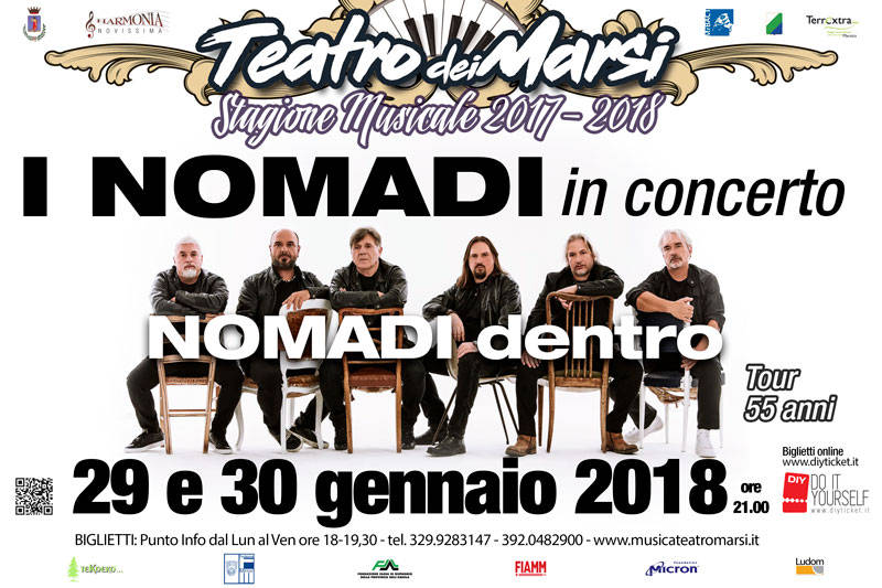 Calendario Concerti Nomadi.I Nomadi In Concerto Ad Avezzano Il Capoluogo